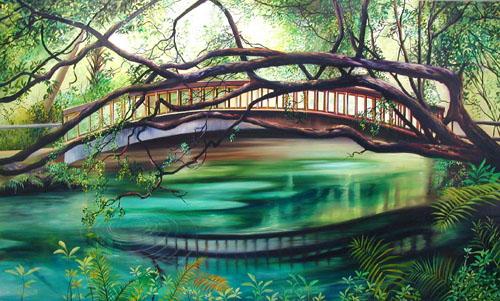 fern hammock jpg  81422 bytes      oil paintings of the silver river ocala florida by john sterpe  rh   paintingsofflorida