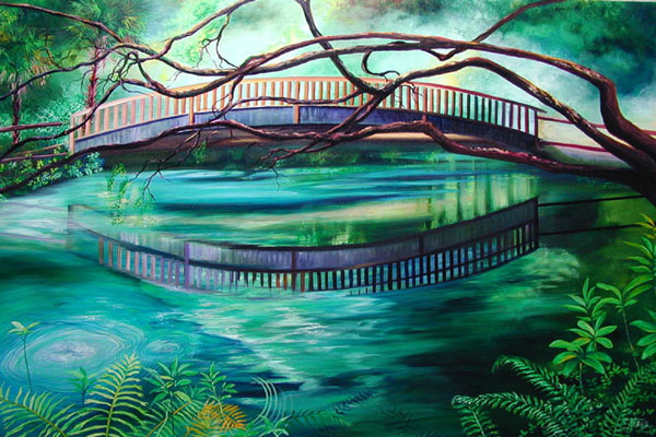 fern hammock the boils 2 jpg  100844 bytes  paintings of juniper springs florida  rh   paintingsofflorida