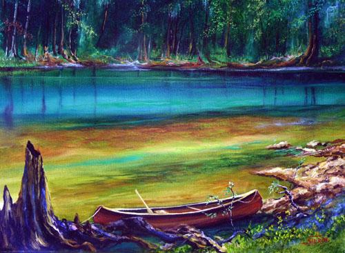 Oil Paintings Of Canoes